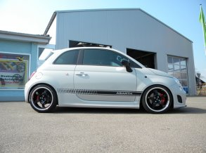 Fiat 500 Abarth mit Barracuda Cuda GT4 in 17 Zoll