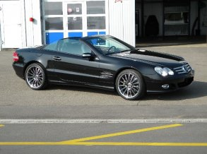 Mercedes-Benz SL500 mit Work Varianza W4S in 19 Zoll